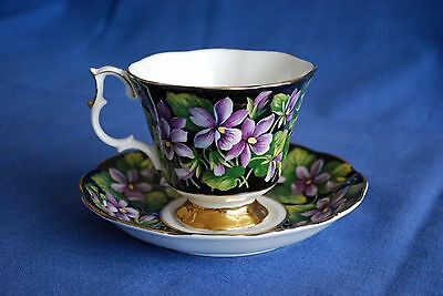 Royal Albert China - Provincial Flowers Purple Violet tea cup and saucer