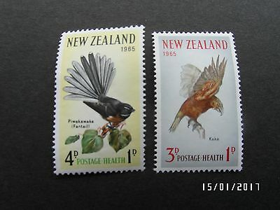 NEW ZEALAND STAMPS - BIRDS - HEALTH - 1965 - SG#831-832 -  MLH - 99p START.