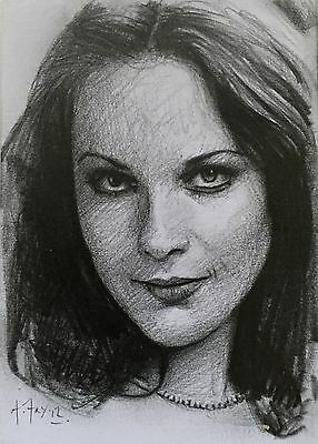Doctor Dr Who Aceo Sketch Card By Andy Fry Of Romana 1 (Mary Tamm)