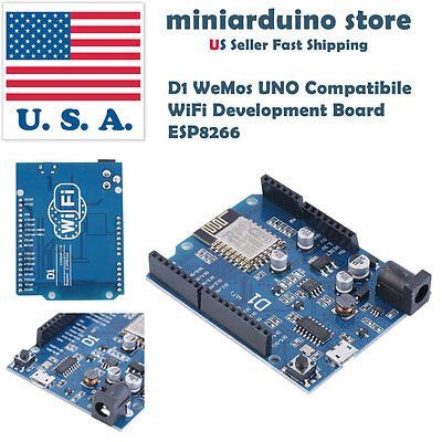 ESP8266 ESP-12E WIFI Wireless Board for Arduino UNO IDE Compatible WeMos D1 USA