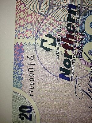 northern bank limited £20. note with yy replacement number