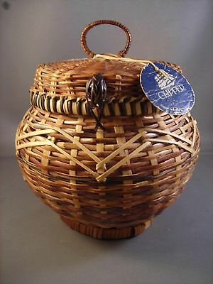 CLIPPER COLLECTION WICKER  BASKET Handmade Sturdy with attached lid