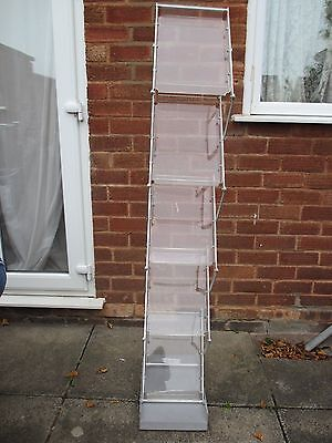 A4 Folding Literature Brochure Rack Exhibition Show Display Stand Leaflet Holder