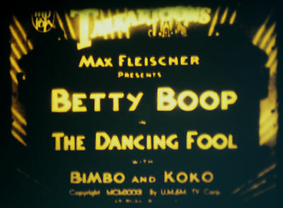Super 8 Betty Boop. The dancing Fool Sonido Inglés 60m 200' OB English Sound