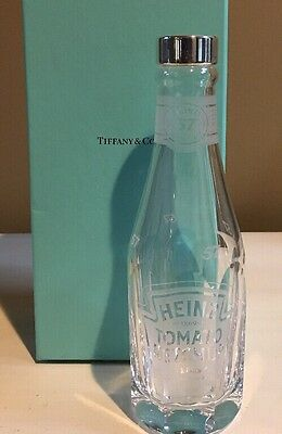 Tiffany & Co - Crystal Heinz Ketchup Bottle - Full Size - 925 Silver Cap