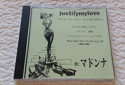MADONNA JUSTIFY MY LOVE CD Single JAPAN PROMO ONLY SCARCE EROTIC UNIQUE INSERT