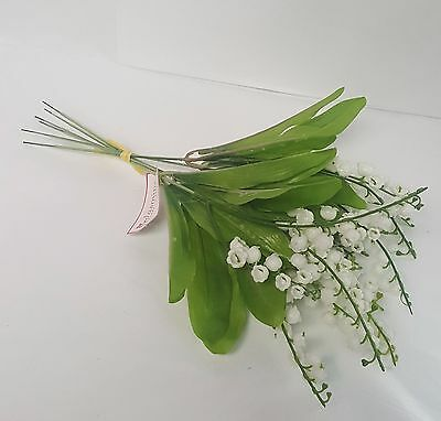 Artificial Flowers Lily Of The Valley Bunch 6 Stems 30Cm Long