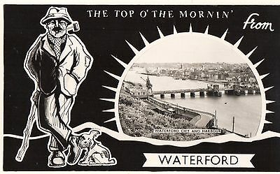 TOP O' THE MORIN' from WATERFORD CITY & HARBOUR IRELAND RP POSTCARD by CARDALL