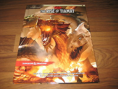 D&D 5th Edition The Rise of Tiamat Hardcover Adventure WotC 2014 Neu New