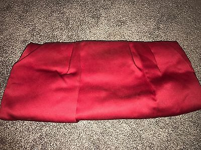 Express Red Fabric Clutch