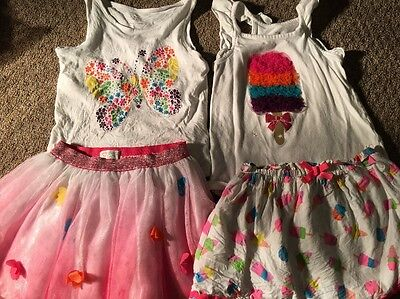 The Children's Place Toddlers Girls Size 4t Two Pink Skirt And Shirt Outfits