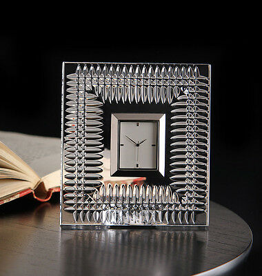 Waterford Crystal Lismore Diamond Bedside Clock New in Box