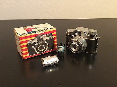 Vintage Crystar Spy Camera- With Film In Box