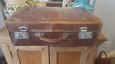 Vintage English Suitcase Steamer Trunk