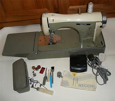 Stunning Vintage  Necchi Bf Supernova Sewing Machine With Case.