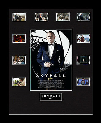 Skyfall James Bond - Framed 35mm Mounted Film Cells Display movie memorabilia