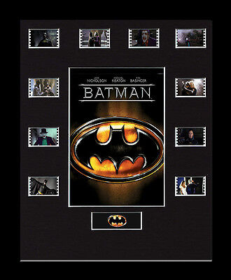 Batman 1989 - Framed 35mm Mounted Film Cells -10 Cell Display memorabilia