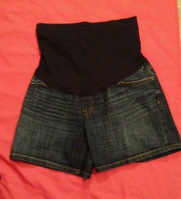 Liz Lange Maternity Jean Shorts Small Full Belly Coverage