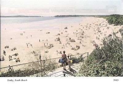 Superb Old Postcard - South Beach - Tenby - Pembrokeshire C.1985