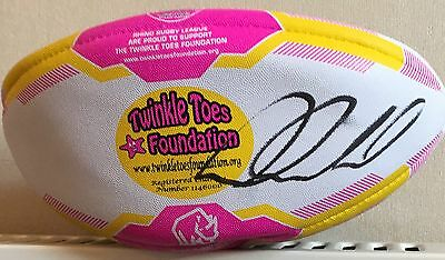 Twinkle Toes Foundation Rugby Ball Signed By Chris Hill (one off)
