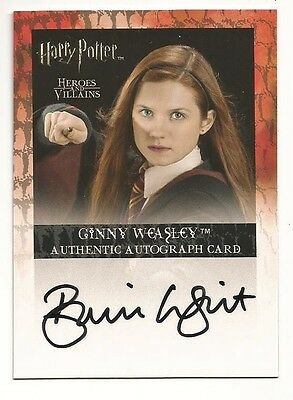BONNIE WRIGHT  2010 Harry Potter Heroes & Villains  AUTOGRAPH  Ginny Weasley