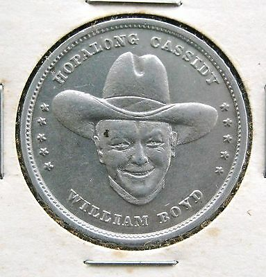 Hopalong Cassidy medal token with two heads