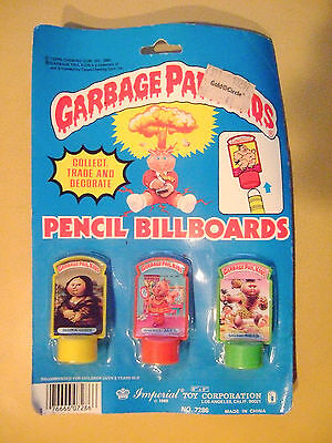 1985 Garbage Pail Kids Pencil Billboards Pen Toppers SEALED in Package 80s Toy