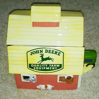 John Deere Barn & Tractor Cookie Jar by Gibson GREAT CONDITION!