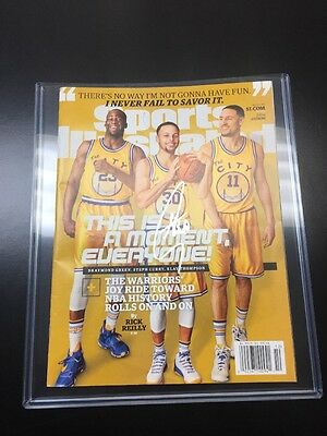 STEPH stephen CURRY signed Warriors autographed SPORTS ILLUSTRATED basketball!!!