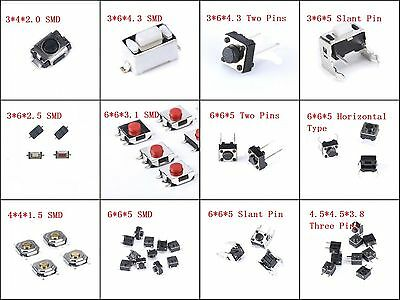 SMD DIP Mini Micro Momentary Tactile Push Button Switch 3*4mm 3*6mm 4*4mm 6*6mm