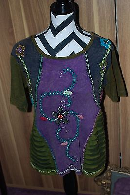 Handmade blouse from Nepal - Size XL