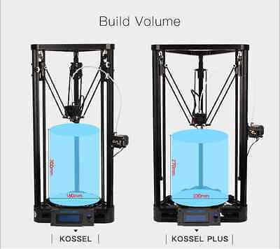 Anycubic 3D Printer Pulley Version PLA Heat Power Kit Kossel Delta Metal Print