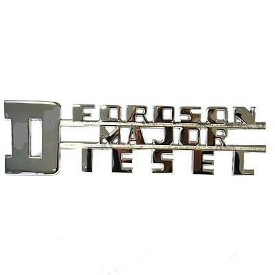 Fordson Major Tractor E1A DIESEL SIDE BONNET BADGE x 1 BEST QUALITY!
