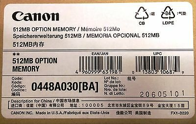 Canon 512MB Option Memory, 0448A030BA, New, OEM, Imagepass B1, IR Advance Color