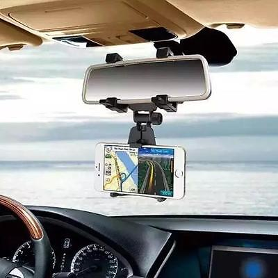 Black  Car Rearview Mirror Mount Holder Stand Cradle For Cell Phone GPS
