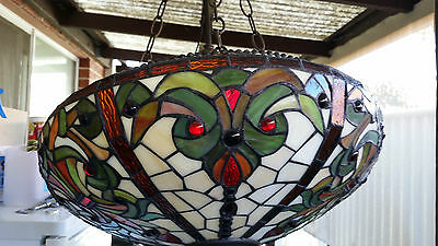 Hand made lead light pendant light with certificate of authenticity