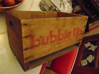 Scarce Vintage 1947 Bubble Up Wood Soda Pop Crate McWilliams & Schulte Co