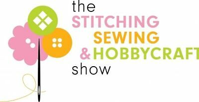 2 x Tickets Stitching Sewing & Hobbycrafts Show - Manchester - 2-4 Feb (Any Day)