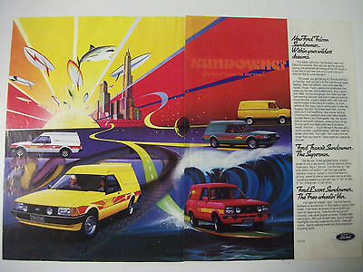 Ford Falcon Transit & Escort Sundowner Van Magazine 2 Page Colour Advertisement
