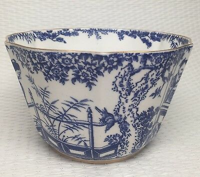BLUE MIKADO ROYAL CROWN DERBY Bowl  Rice,Tea Waste, Berry Serving Dated 1900