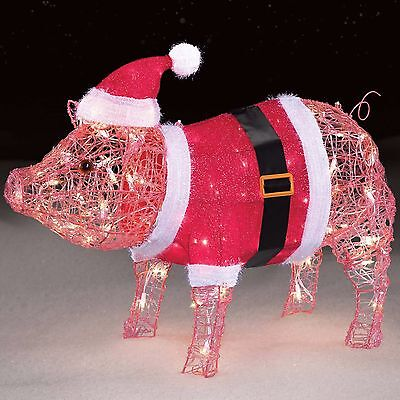 "New Christmas Outdoor Yard Decor Decoration Mama Pig 27"" Outdoor Xmas Holidays"