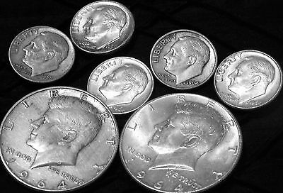 $1.50 Face Value of 90% Silver Lot U.S Coins _ Quarters & Dimes & Half Dollars