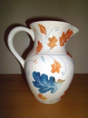 "Teleflora Gift Vase Pitcher;Multi Color; 8"" High;Excellent Condition"