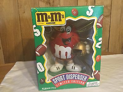 M&M's Red Football Sport Dispenser Limited Edition new