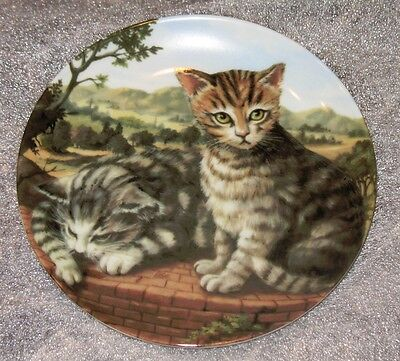 Collectable  Cat Plate Cat Collection Terrace Cat Mint