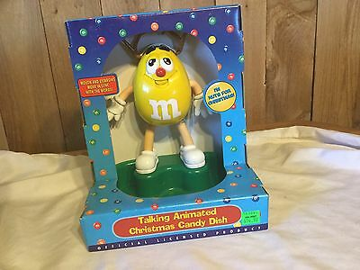 M&M's New Talking Animated Christmas Candy Dish
