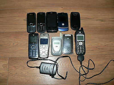 Used Cell Phone Lot Of 10 Untested