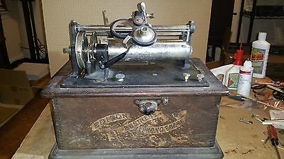 Edison Business Phonograph- Motorized- Very Rare- Non Working