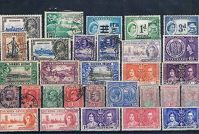 Lot Of Old Stamps From Sierra Leone ( Cola 14 )