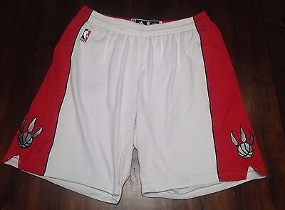 Toronto Raptors Authentic Adidas Pro Cut Game Worn Used Home Shorts 3XL+2Length
